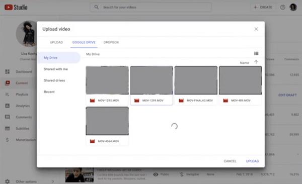 Mise à jour de YouTube Studio