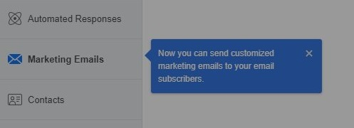 Facebook email send from Pages
