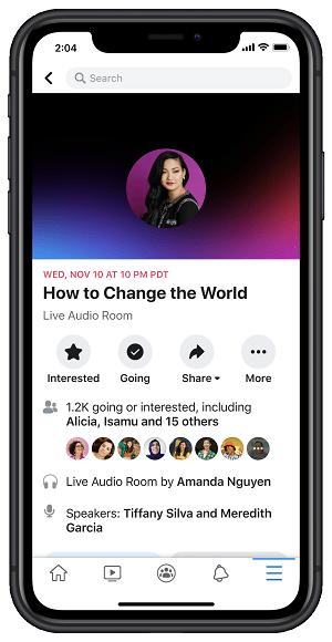Salles audio Facebook