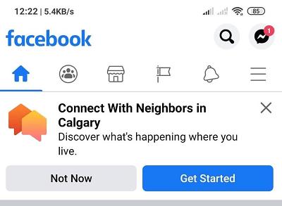 Facebook Neighborhoods