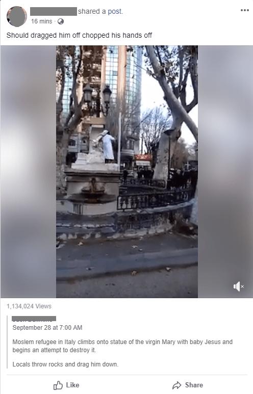 Facebook fake video
