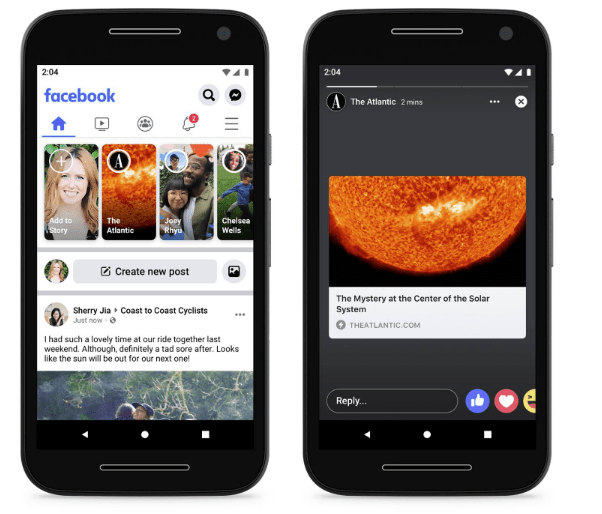 Facebook Instant Articles in Stories