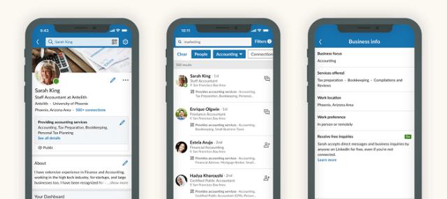 LinkedIn Services listings