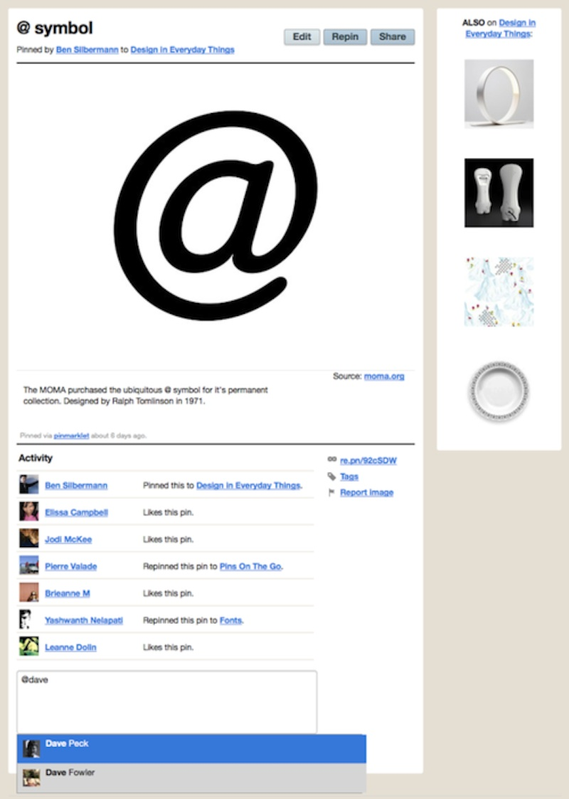 Pinterest Adds @Replies to Streamline Pin Sharing | Social Media Today