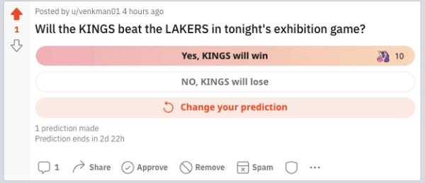 Reddit Predictions