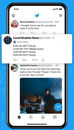 Twitter bot labels