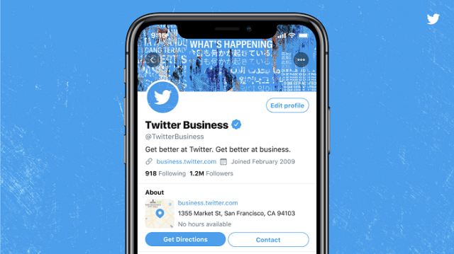 Twitter professional profiles example