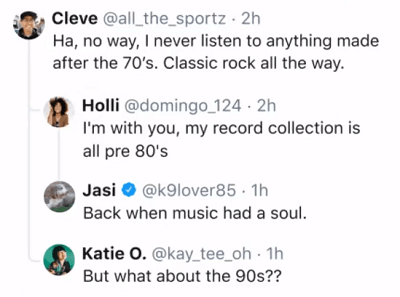 Twitter threaded replies