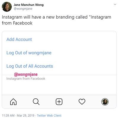 Tweet from Jane Manchun Wong