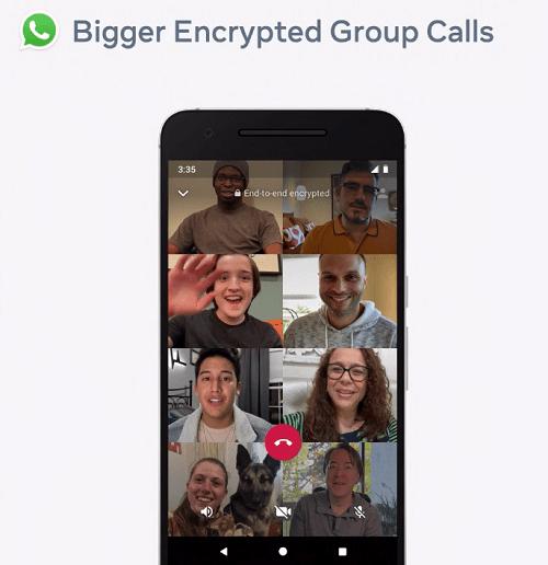 WhatsApp video group calls