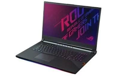 Bajo el teclado la ROG Strix Scar III de Asus lleva un Core i7 9750H y 32 GB de RAM, además de un terabyte de almacenamiento SSD