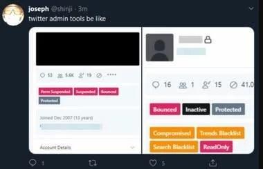 Una vista del panel de control de Twitter publicado por el atacante desde la cuenta @shinji