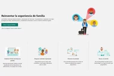 Algunas de las opciones que ofrece Microsoft Family Safety