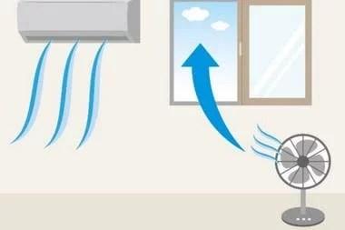 Colocar cerca de una ventana un ventilador que sopla hacia el exterior aumenta considerablemente la circulación de aire