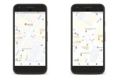 Los pasos peatonales (a la izquierda) se van integrando a Google Maps