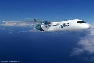 Uno de los diseños de aviones a hidrógeno que explora Airbus para 2035