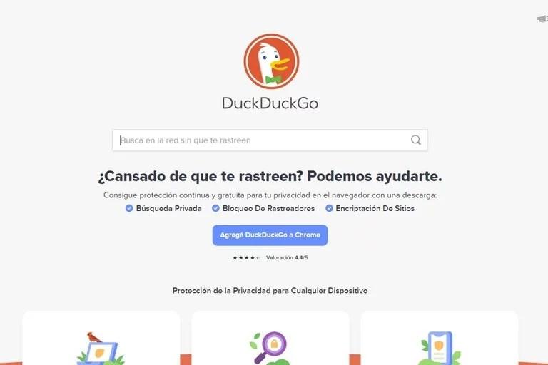DuckDuckGo es un buscador alternativo a Google y Bing con foco en la privacidad de sus usuarios
