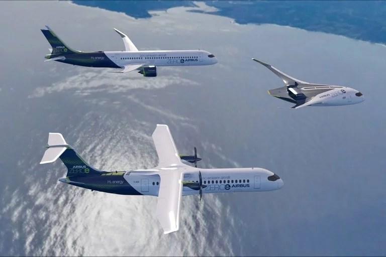 Los nuevos aviones de Airbus que no contaminan podrían estar en vuelo para 2035