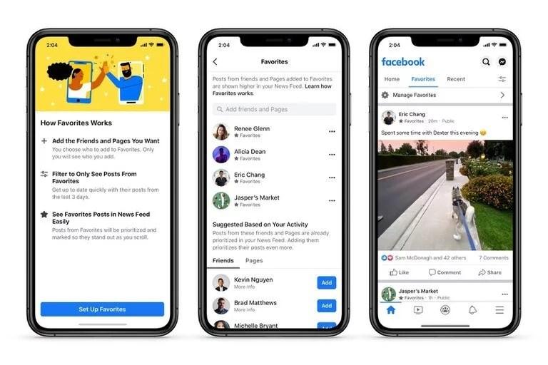La nueva organización del News Feed de Facebook permite organizarlo en forma cronológica, y poner al principio las publicaciones de usuarios favoritos