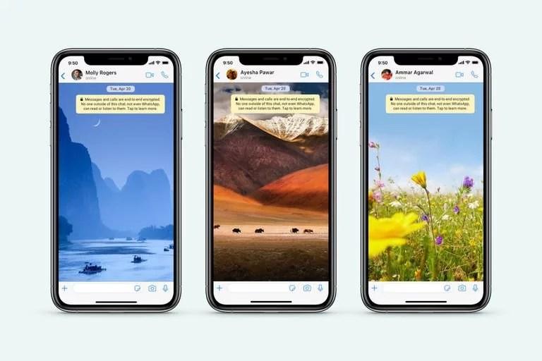 WhatsApp también ofrece nuevos fondos de pantallas para homenajear al Día de la Tierra