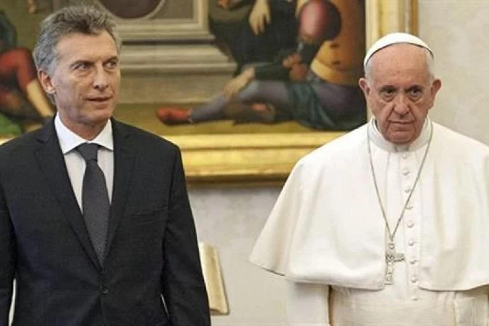 El Papa y Mauricio Macri