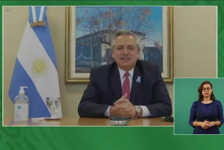 Alberto Fernández en diálogo con AMLO