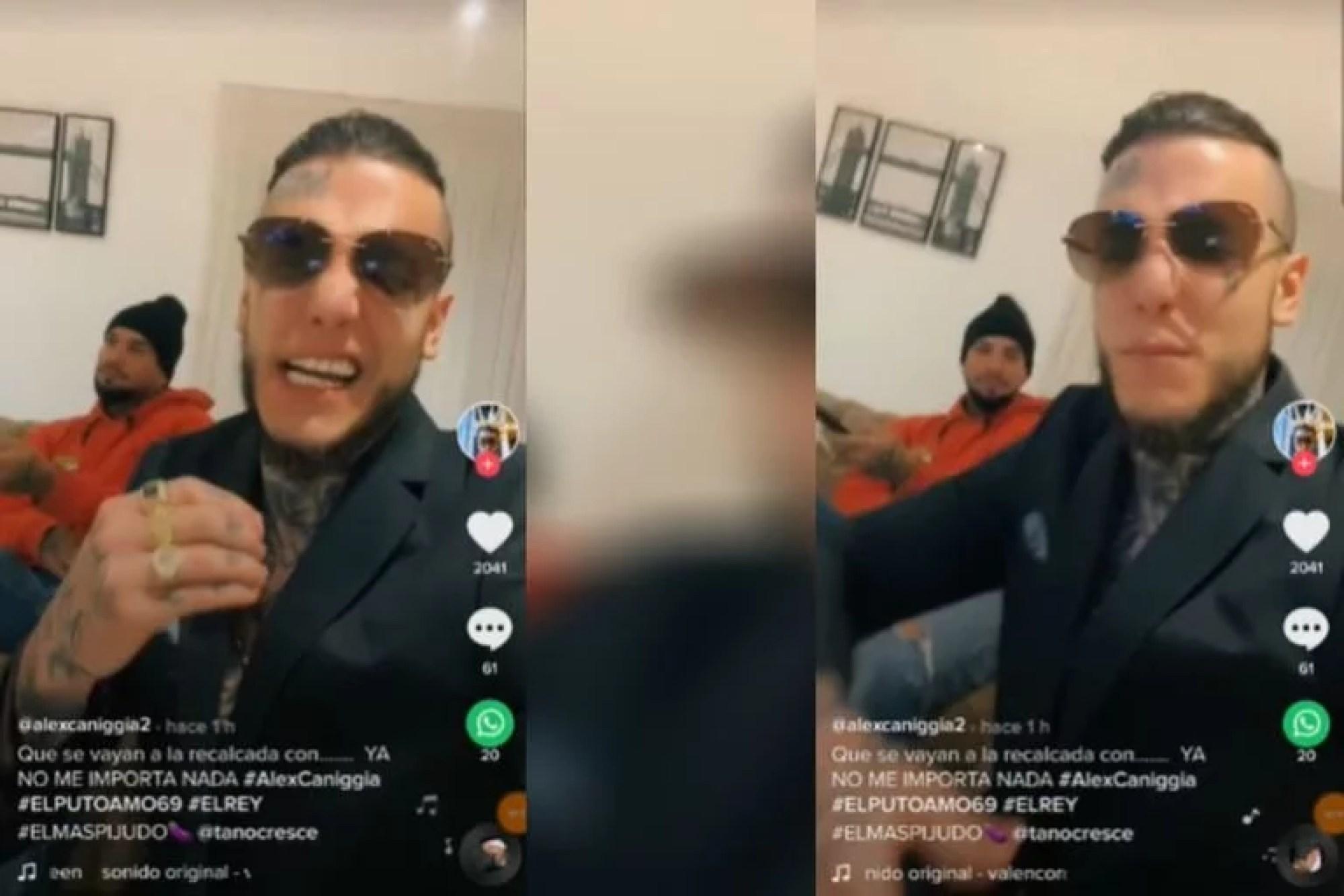 A través de su cuenta de TikToK, Alex Caniggia compartió un polémico video