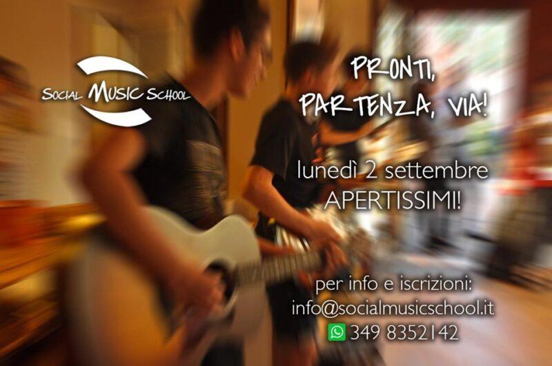 Social Music School - apertura 2 settembre 2019