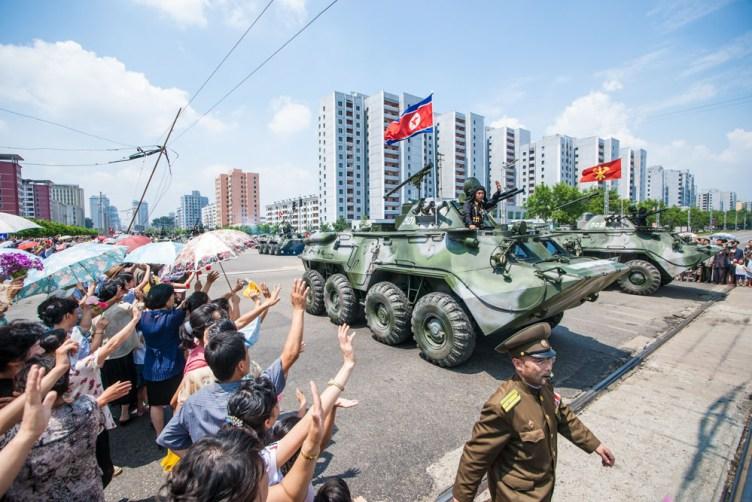 corea del nord parata vittoria
