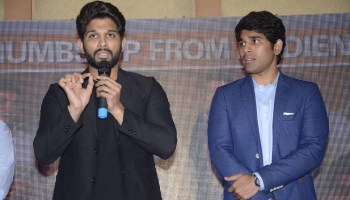 Allu Arjun Attends One Of His Managers Wedding Reception