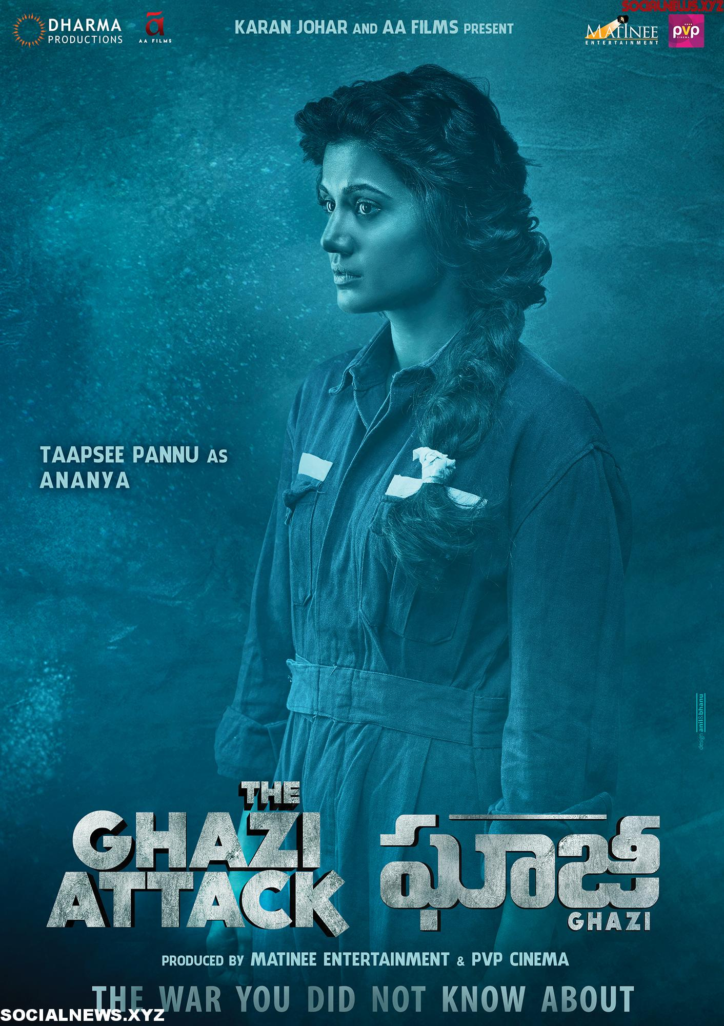 Taapsee Pannu in Ghazi Poster