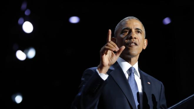 Obama says goodbye, offers hope in emotional speech