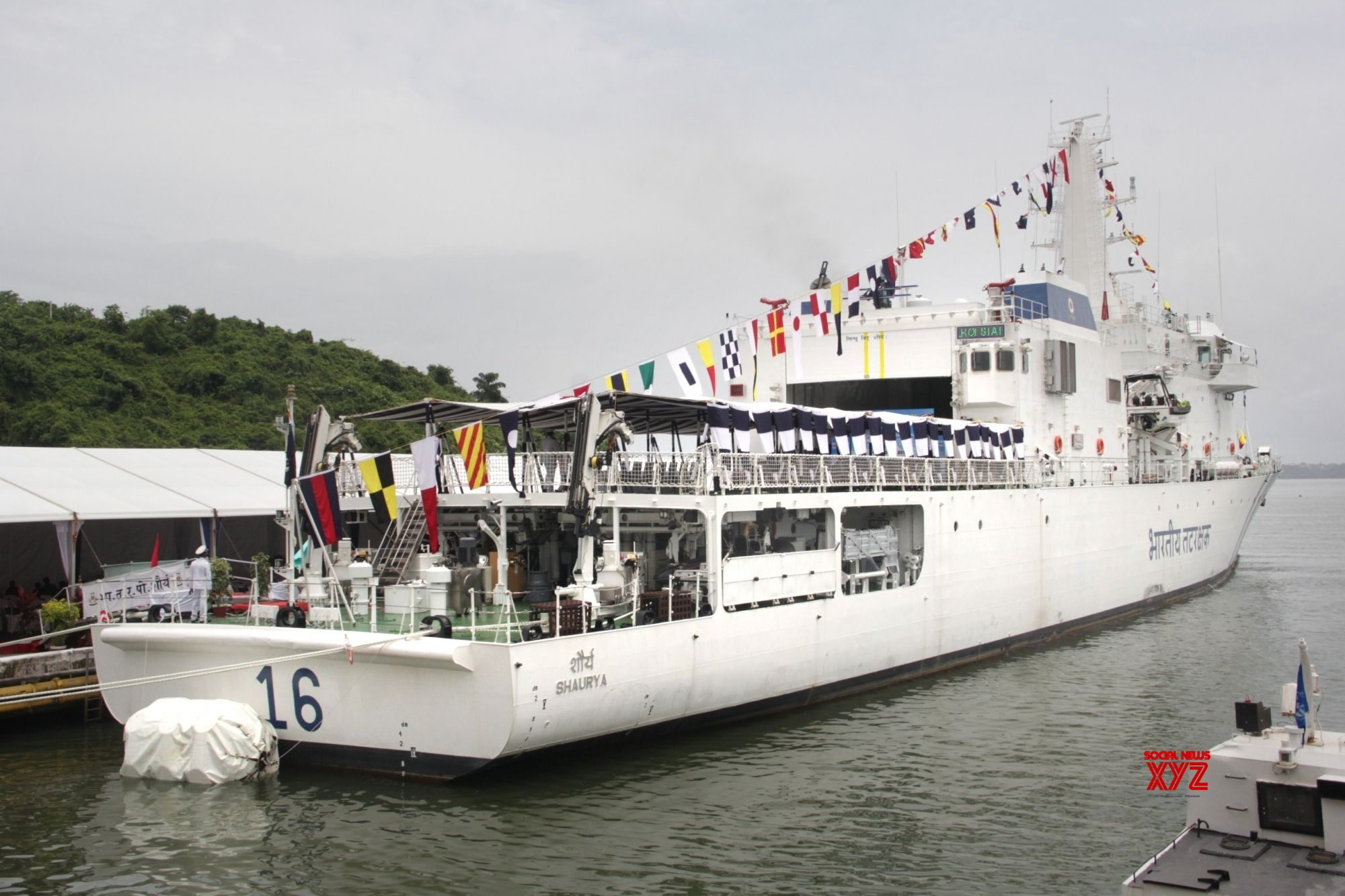 Indian Coast Guard ship 'Shaurya' commissioned in Goa