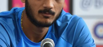 Rajkot: India's Axar Patel addresses a press conference ahead of the secend T20 match against New Zealand in Rajkot on Nov 3, 2017. (Photo: Surjeet Yadav/IANS)