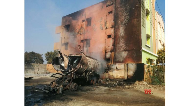 Four injured as petrol tankers catch fire in Hyderabad