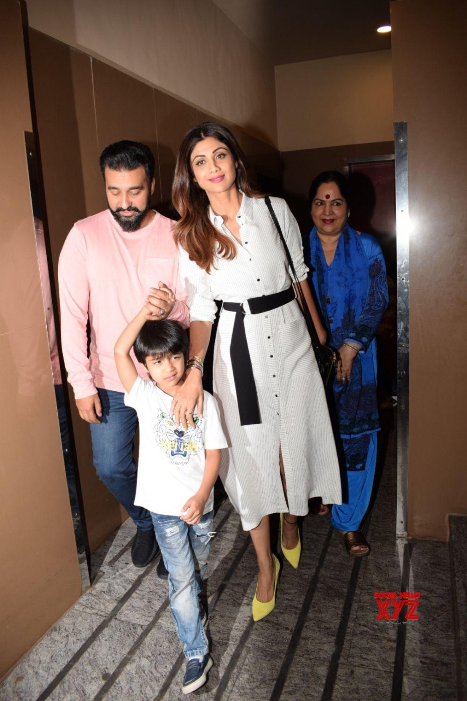 Mumbai: Shilpa Shetty Kundra, Raj Kundra, Viaan Raj Kundra