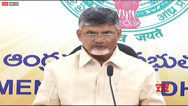 Amravati: Andhra Pradesh Chief Minister and Telugu Desam Party (TDP) President N. Chandrababu Naidu addresses a press conference in Amravati on March 7, 2018. (Photo: Video Grab/IANS)