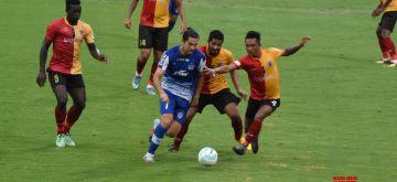Bhubaneswar: Players in action during a Super Cup final match between East Bengal and Bengaluru FC at Kalinga Stadium in Bhubaneswar on April 20, 2018. (Photo: IANS)