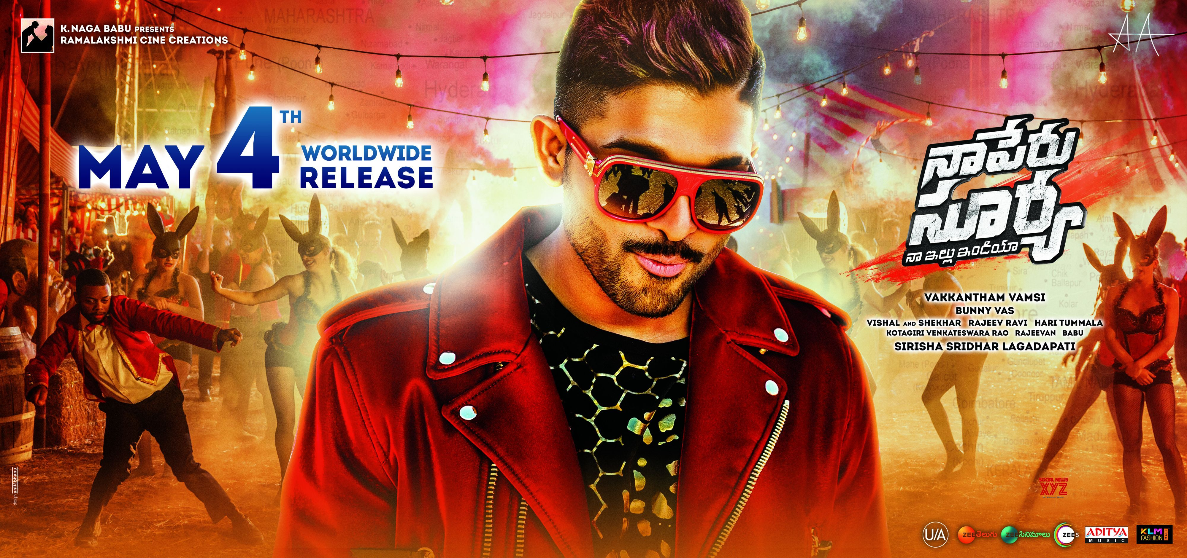Naa Peru Surya, Naa Illu India USA Theater Schedules