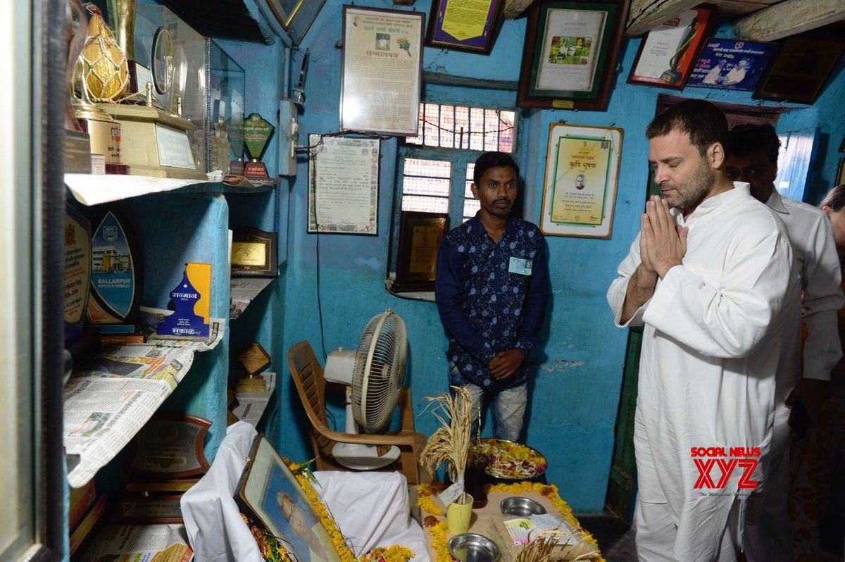 Rahul says 'sorry' for nation's apathy to Dalit farmer-scientist