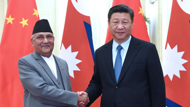 Chinese president in Nepal on two-day state visit