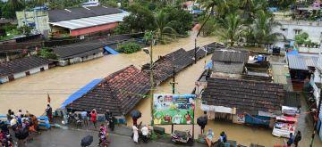 Palakkad: A view of the flood hit Palakkad, Kerala on Aug 9, 2018. (Photo: IANS)