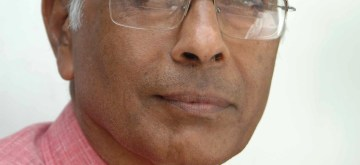 File photo of anti-superstition activist Narendra Dabholkar who was shot dead by two unidentified assailants while he was out on a morning walk on August 20, 2013. (Photo::: IANS)