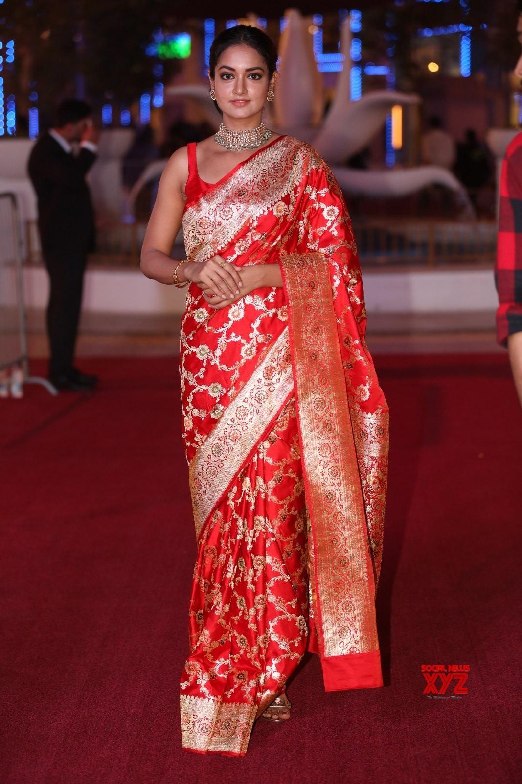 Actress Shanvi Srivastava Stills From SIIMA Awards 2018 Red