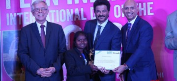 New Delhi: Actor Anil Kapoor during Plan International celebration of the International Day of the Girl 2018, in New Delhi on Oct 11, 2018. On the occasion of the International Day of the Girl Child (IDG), 17 Girl Changemakers from across 10 states stepped into the roles of ambassadors and high commissioners of 17 countries and relayed messages of equality, freedom and power for girls and young women. (Photo: IANS)