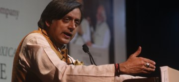 "New Delhi: Congress leader Shashi Tharoor addresses at the launch of his book ""The Paradoxical Prime Minister: Narendra Modi And His India"" in New Delhi on Oct 26, 2018. (Photo: IANS)"