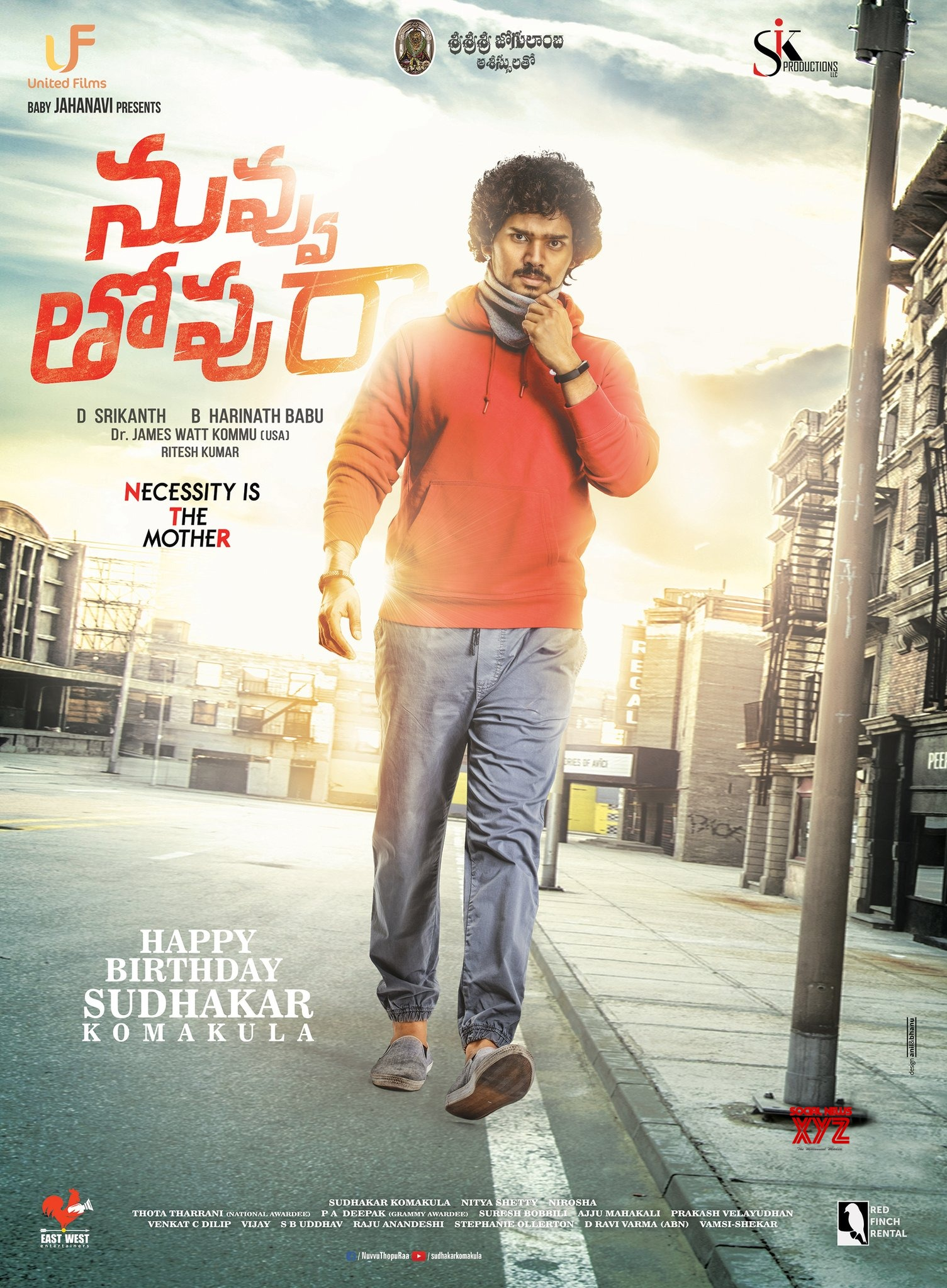Image result for Nuvvu Thopu Raa First Look and Posters