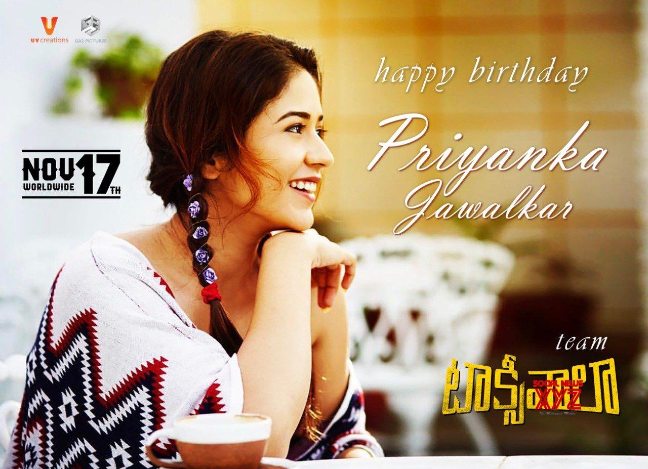 Priyanka Jawalkar Birthday Wishes Poster From Taxiwaala Team