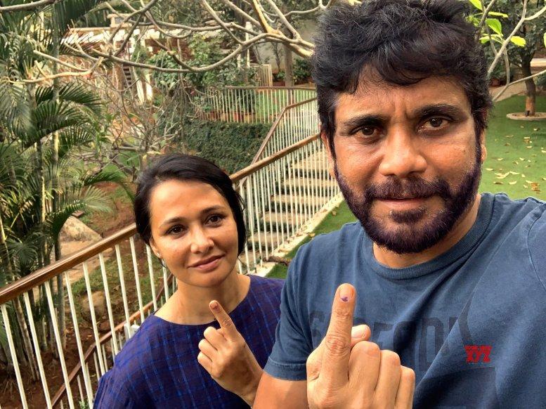 Chiranjeevi, Nagarjuna cast votes in Telangana polls
