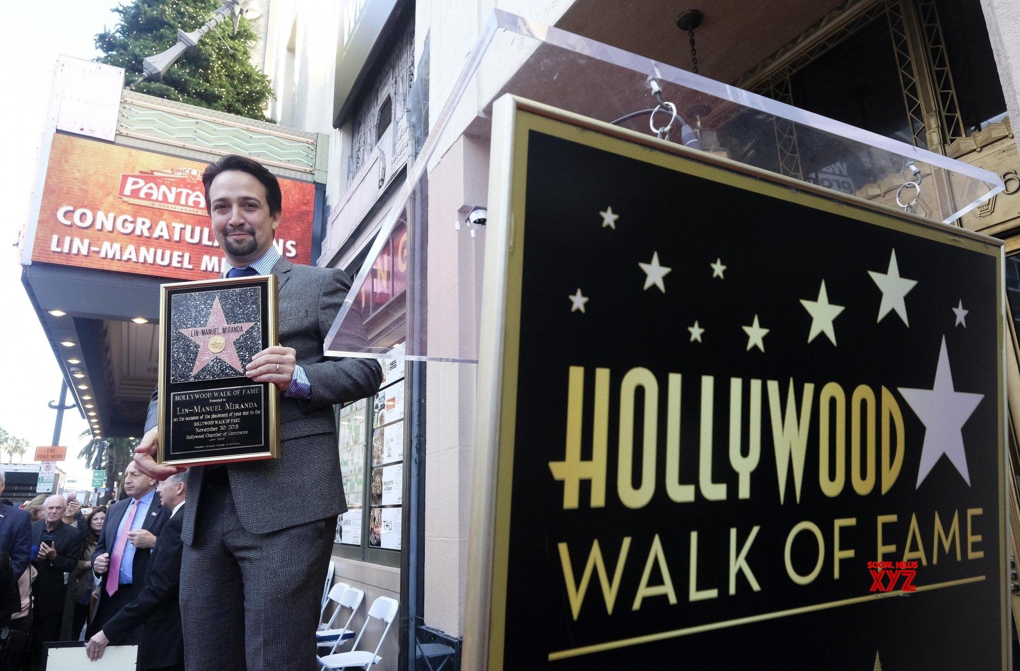 U.S. LOS ANGELES LIN MANUEL MIRANDA STAR HONORING CEREMONY #Gallery